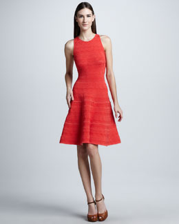 Ralph Lauren Black Label Lace Detailed Fit-and-Flare Dress, Coral