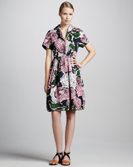 Marni Floral-Print Coat Dress