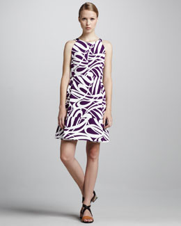 Marni Swirl-Print Short Dress