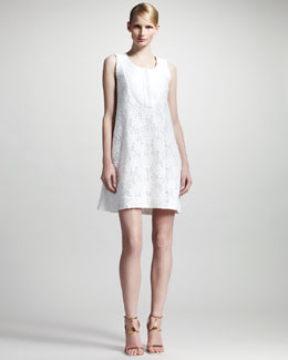 Chloe Floral-Lace Sleeveless Dress