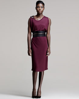 Lanvin Bead-Shoulder Dress