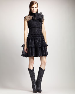 Lanvin Tiered Crinoline Dress