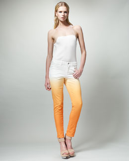 Stella McCartney Slim Degrade Jeans, Papaya