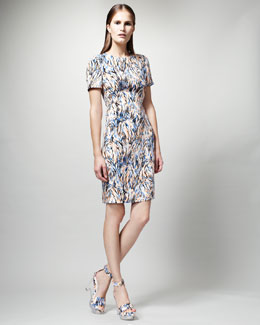 Stella McCartney Printed Short-Sleeve Dress