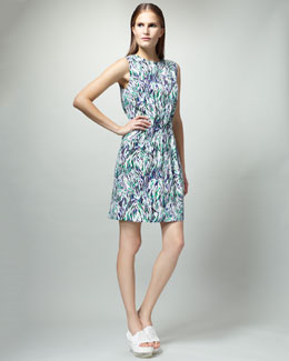 Stella McCartney Abstract-Print Gathered Dress