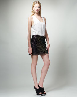 Stella McCartney Diamond-Pattern Miniskirt