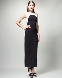 Stella McCartney Long Colorblock Dress
