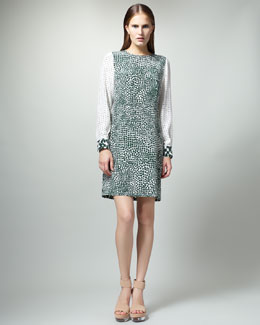 Stella McCartney Printed Long-Sleeve Dress