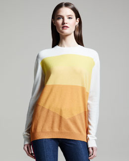 Stella McCartney Colorblock Cashmere Pullover