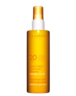 Clarins Sunscreen Spray Gentle Milk-Lotion Progressive Tanning SPF 20