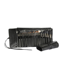 Napoleon Perdis 22-Piece Makeup Brush & Leather Roll Set
