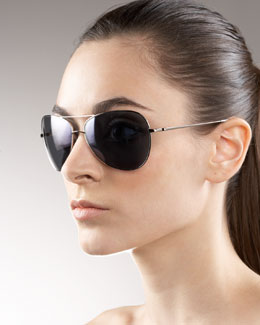 Oliver Peoples Pryce Aviator Sunglasses
