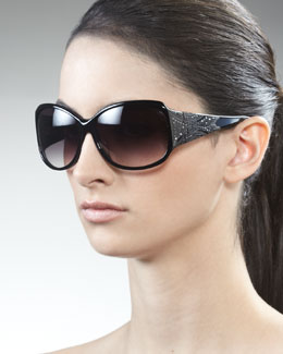 Givenchy Embossed-Temple Sunglasses