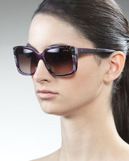 Lanvin Square Horn Sunglasses