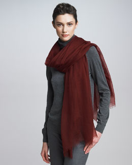 Loro Piana Faded Unique Stole, Amarone