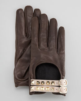 Valentino Rockstud Driving Gloves