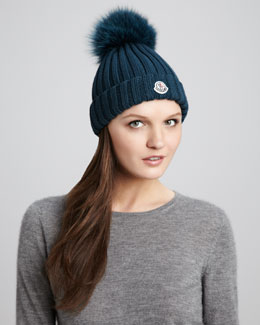 Moncler Ribbed Pompom Hat