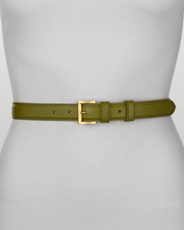 Prada Saffiano Dress Belt, Edera