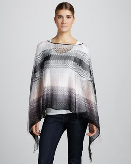 Missoni Lightweight Zigzag Knit Poncho