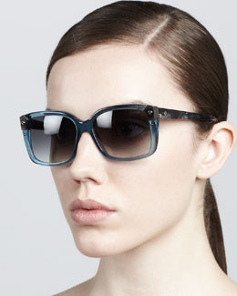 Lanvin Clear-Frame Sunglasses