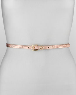 MICHAEL Michael Kors  Lizard-Print Leather Belt
