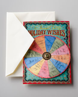 "Bernard Maisner ""Holiday Wishes"" Spinner Card"