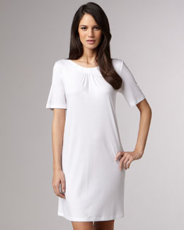 Hanro Jasmine Mercerized Sleepshirt, White