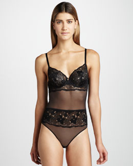 La Perla Charming Flowers Bodysuit
