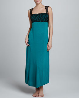 La Perla Chrysler Party Long Gown, Green