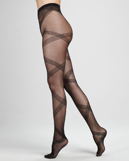Wolford Vivienne Sheer Diamond Tights