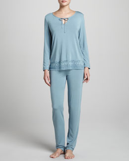 La Perla Looking For Love Pajamas, Blue