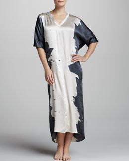 Donna Karan Twilight Two-Tone Silk Caftan