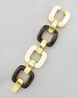 Vaubel Designs Chunky Bone & Ebony Bracelet