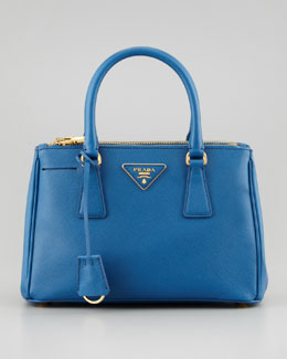Prada Saffiano Small Executive Tote, Blue