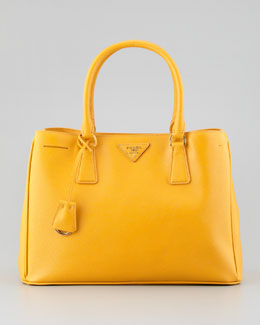 Prada Saffiano Lady Tote Bag, Bright Yellow