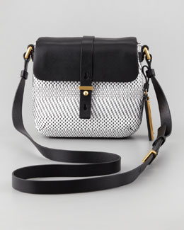 MARC by Marc Jacobs Werdie Wavy Isabelle Crossbody Bag, White/Black
