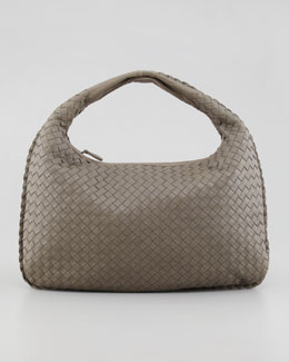 Bottega Veneta Medium Veneta Hobo Bag, Medium Gray