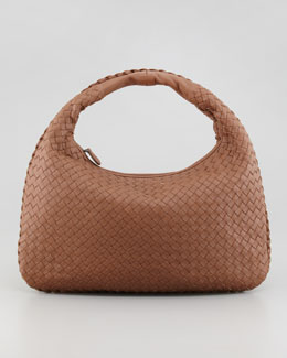 Bottega Veneta Medium Veneta Hobo Bag, Light Brown