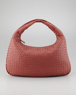 Bottega Veneta Medium Veneta Hobo Bag, Rose