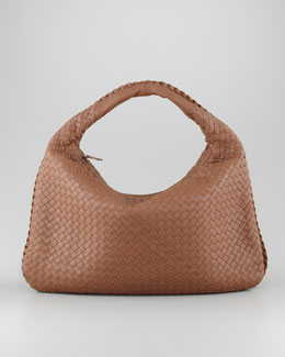 Bottega Veneta Veneta Large Hobo Bag, Light Brown