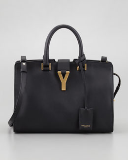 Saint Laurent Mini Cabas ChYc Bag, Black