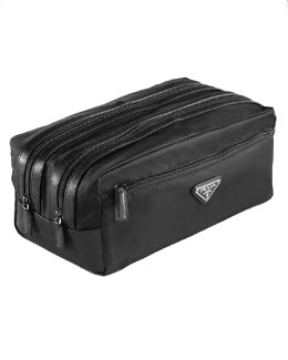 Prada Nylon Double-Zip Travel Kit