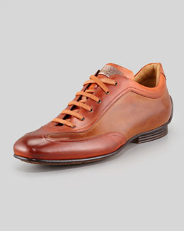 Stefano Branchini Bicolor Burnished Leather Sneaker