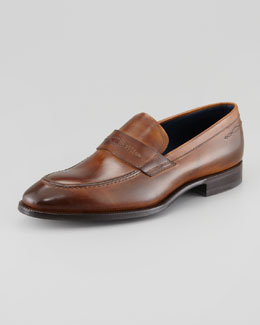 Stefano Branchini Apron-Toe Penny Slip-On, Brown