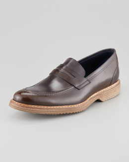 Stefano Branchini Rubber-Sole Penny Loafer