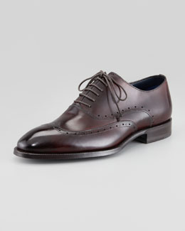 Stefano Branchini Lace-Up Wing-Tip Oxford, Burgundy