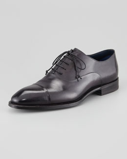 Stefano Branchini Cap-Toe Calfskin Oxford