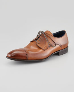Stefano Branchini Brogue Cap-Toe Lace-Up Blucher