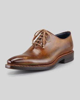 Stefano Branchini Plain-Toe Lace-Up, Brown