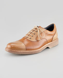 Stefano Branchini Bi-Color Cap-Toe Oxford